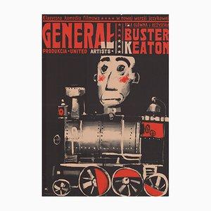 Polnisches Vintage The General Filmplakat von Waldemar Swierzy für CWF, 1964