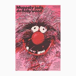 Polnisches Vintage The Muppet Filmplakat von Waldemar Swierzy für XRF, 1982