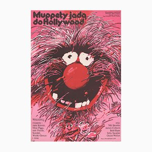 Vintage Polish The Muppet Movie Poster by Waldemar Swierzy for XRF, 1982