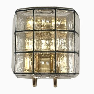 German Brass Wall Light from Limburg, 1960s