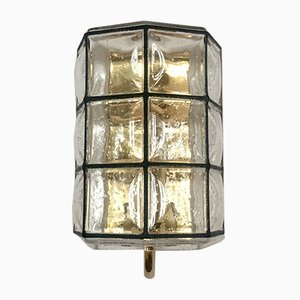Brass Wall Lamp from Glashütte Limburg, 1960s
