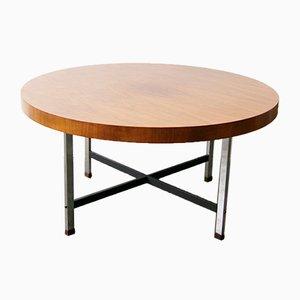 Tavolino da caffè Mid-Century in noce e metallo