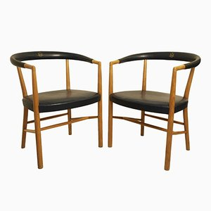 B37 FN Armchair by Jacob Kjaer for Christiansen & Larsen, 1949, Set of 2