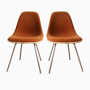 Vintage Brown Chairs by Charles & Ray Eames for Herman Miller, Set of 2