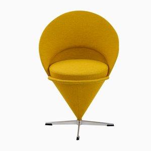 Sedia Cone gialla di Verner Panton, 1958