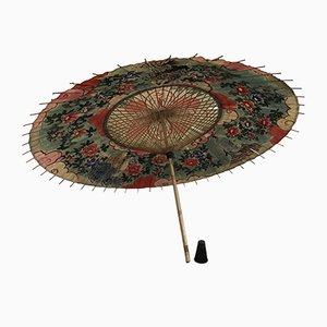 Paraguas japonés vintage de papel de arroz