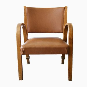 Bow Wood Chair from Hugues Steiner, 1950s
