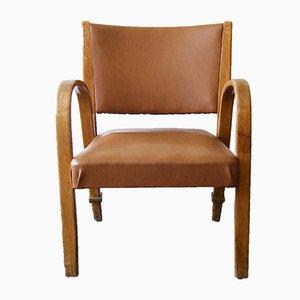 Chaise en Bois Courbé de Hugues Steiner, 1950s