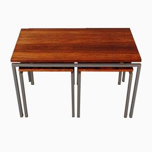 Dutch Rosewood Nesting Table Set, 1950s