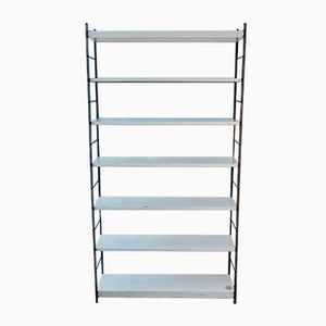Dutch Black and White Metal Bookshelf, 1960s
