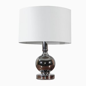 Vintage Chrome Table Lamp, 1970s