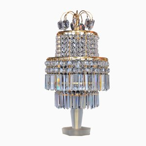 Vintage Crystal Table Lamp from Gablonz