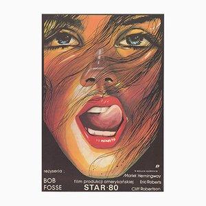 Polnisches Vintage Star 80 Plakat von Maciej Woltman für POLFILM, 1984