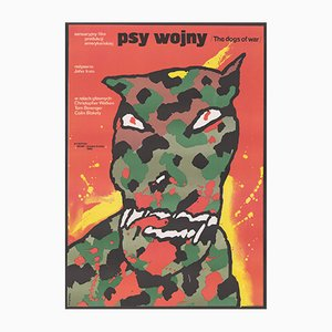 Affiche du Film Dogs of War Vintage par Waldermar Swierzy, Pologne, 1984