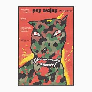 Polnisches Vintage Dogs of War Filmplakat von Waldermar Swierzy, 1984