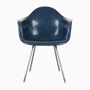 DAX Esszimmerstuhl in Marineblau von Charles & Ray Eames für Herman Miller, 1970er