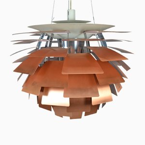 Lampada PH Artichoke in rame di Poul Henningsen per Louis Poulsen, anni '50