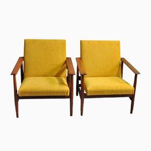 Sessel aus Teakholz von Ingmar Relling für Svane Möbler, 1960er, 2er Set