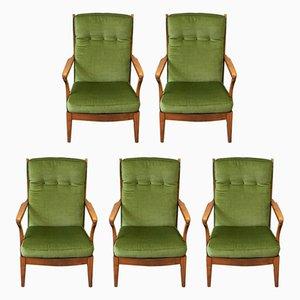 Swedish High Back Armchair, 1960s, Set of 5
