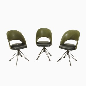 Italian Swivel Chairs, 1950s, Set of 3