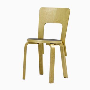 Vintage Model 66 Chair By Alvar Aalto For Artek