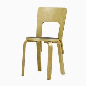 Vintage Modell 66 Stuhl von Alvar Aalto für Artek