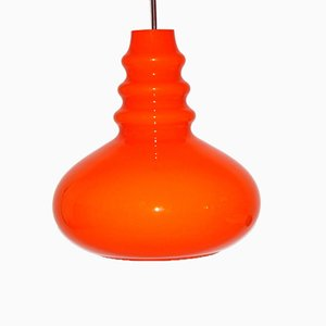 Vintage Orange Glass Ceiling Light from Peill & Putzler, 1960s