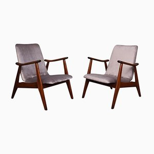 Lounge Chairs by Louis Van Teeffelen for Webe, 1960s, Set of 2