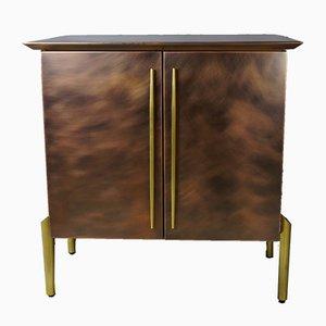 Mueble bar vintage de cobre y latón de Belgo Chrom
