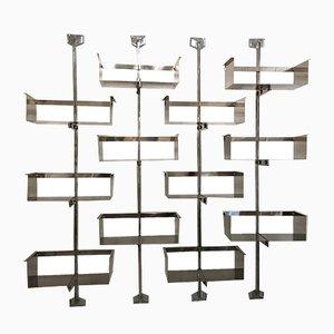 Regalsystem aus Edelstahl von Vittorio Introini für Saporiti Italia, 1970er