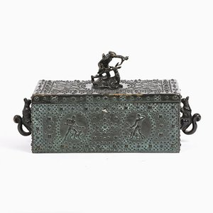 Antique Austrian Bronze Chest by Friedrich Gornik, 1900s
