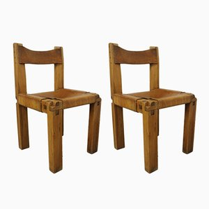 S11 Chairs by Pierre Chapo for Selz, 1960s, Set of 2