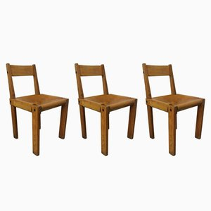 S24 Chairs by Pierre Chapo for Selz, 1960s, Set of 3