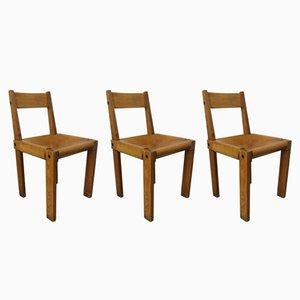 S24 Stühle von Pierre Chapo für Selz, 1960er, 3er Set