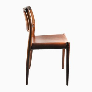 Mid-Century Model 83 Rosewood & Nappa Leather Chair by Niels Moller for J.L. Møllers