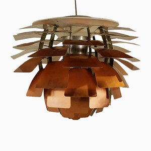 Artichoke Deckenlampe aus Kupfer von Poul Henningsen für Louis Poulsen, 1960er