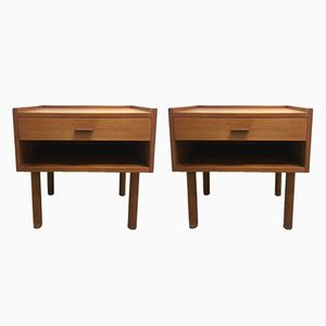 Teak Bedside Tables by Hans J. Wegner for Ry Mobelfabrik, 1950s, Set of 2