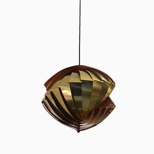 Lampe à Suspension Konkylie par Louis Weisdorf pour Lyfa, 1960s