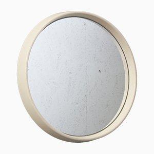 Kleiner Runder Vintage Spiegel mit Rahmen aus Kunststoff
