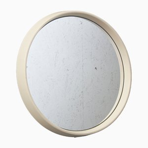 Vintage Small Round Mirror with Plastic Frame