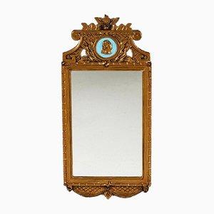 Espejo sueco gustaviano con medallón