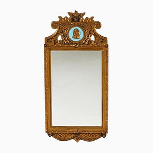 Gustavian Swedish Mirror with Medallion