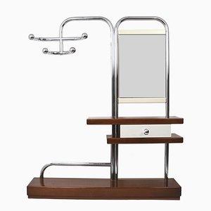 Attaccapanni Bauhaus con specchio e cassetto