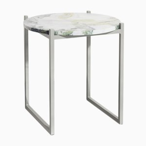 LULU | Side Table in Lotus Green Marble & Steel from Johanenlies