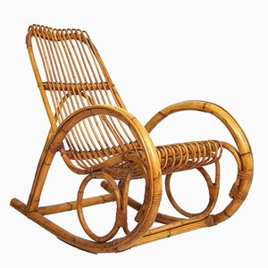 Mid-Century Bohemian Rocking Chair
