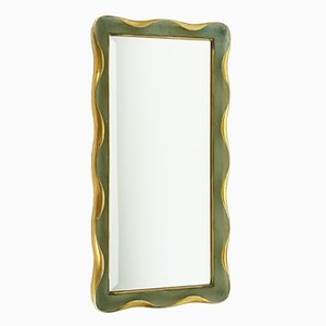 Italian Wooden Wall Mirror, 1940s