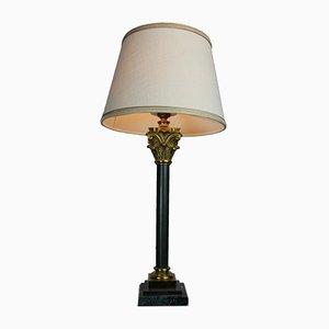 Lampada da tavolo su base in marmo, anni '50