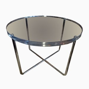Tavolino da caffè vintage in lucite ed acciaio di Rodolfo Dordoni per Minotti
