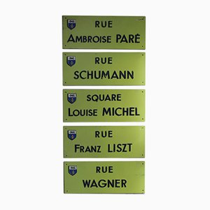 Vintage French Street Signs Set