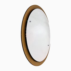 Mirror on Smoked Glass Frame from Cristal Art Design, 1960s
